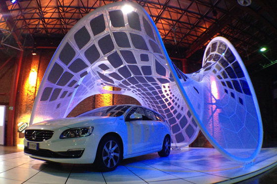Tensile Structure and Solar Power make the PURE Tension Volvo Pavilion