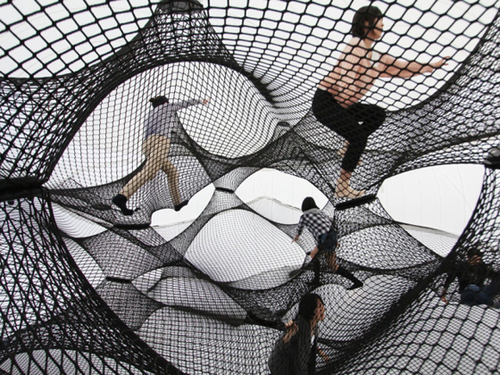 Net Blow-up Interactive Pavilion