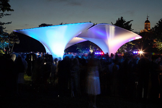 Fabric Structures Create Temporary Event Space