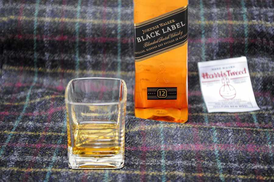 A new range of Harris Tweed imbued with the scent of Johnnie Walker Black Label whisky, which has been created by textile experts at Heriot-Watt University (Pierre Guillemin/Harris Tweed Hebrides/Johnnie Walker/PA)