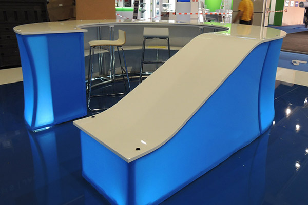 Custom counter fabric structure