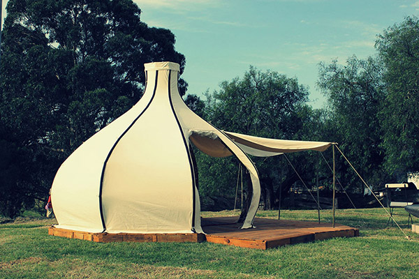 Sustainable Glamping Made From Natural Materials